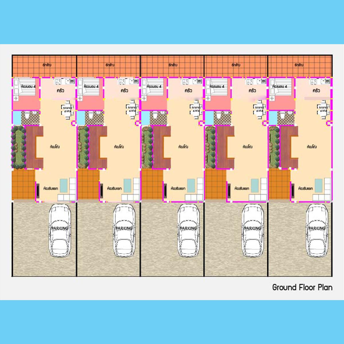 Ground Floor Plan (แบบ A )